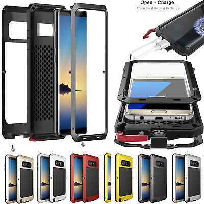 Aluminum Gorilla Glass Waterproof Shockproof Metal Case For Samsung S8 S9 Note 8