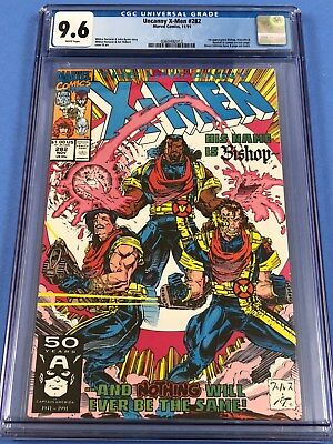 Uncanny X-men 282 CGC 9.6 White Pages First Appearance of Bishop