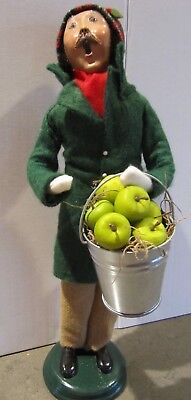 Metal Bucket w/ Green Apples Accessory for Byers Choice Bear Doll FREE SHIPPING
