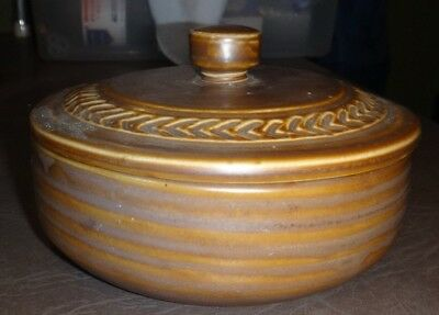 Vintage Hall 2642 Brown Bowl With Lid Euc!! Stoneware