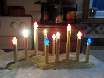 2 Vintage Christmas Candelabras with extra bulbs