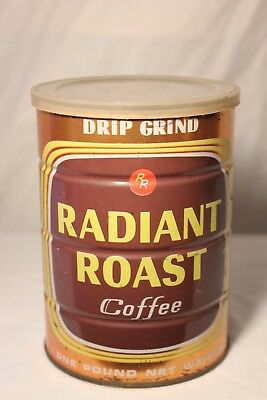 Vintage Radiant Roast Coffee Can Tin 1 Lb Empty