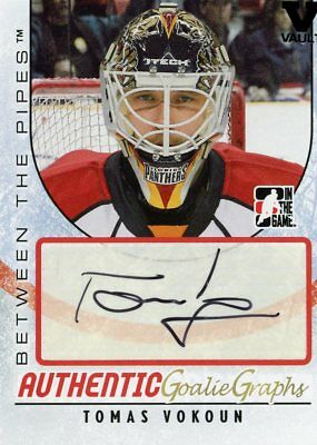 2015-16 Final Vault 2007-08 Between The Pipes Tomas Vokoun Goaliegraph SP auto