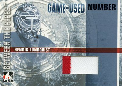 2006-07 Between The Pipes Henrik Lundqvist Game-Used Number Silver