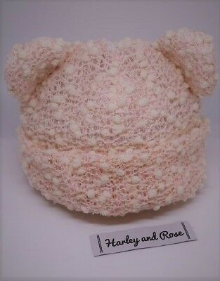 Baby Beanie Knotted, Ears or Slouch Style Knit Fabric Soft Infant to Toddlers