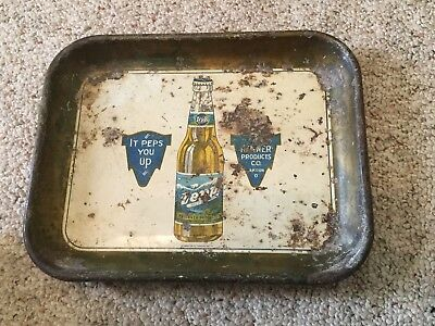 Rare Vintage Renner Products Co Akron Ohio Zepp Near Beer Tray Peps You Up