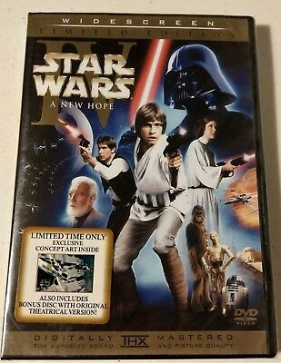 Star Wars Iv A New Hope Limited Edition 2-Disc Dvd Widescreen Sealed Brand New