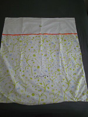 IKEA Fagelsang Crib Toddler Duvet Cover White Green Orange Tree Bird Ant Dot