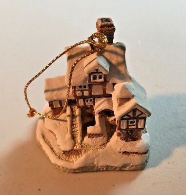 JOHN HINE 1987 David Winter Ebeneezer Scrooge's Counting House Tree Ornament NOS