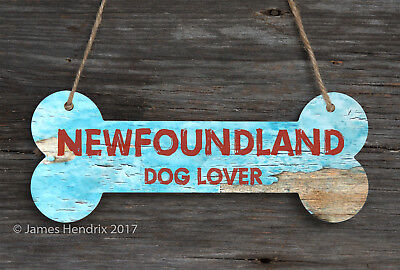 Newfoundland  Aluminum Dog Bone Sign