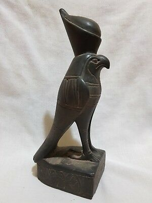 Rare Ancient Egyptian Antique God HORUS Falcon Statue Egypt Carved Stone BC