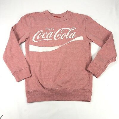 Coca Cola Womens Sz Small Sweater Classic Heather Red Logo Top Long Sleeve Soft