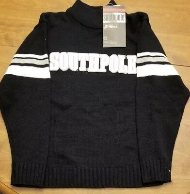 0fa9340f97 Southpole Authentic Collection Mens Sweater Turtleneck Long Sleeve Black  Size M
