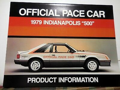 Original 1979 Mustang OFFICIAL PACE CAR PRODUCT INFORMATION catalog brochure