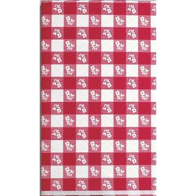 Plastic Tablecovers Stay Put Banquet Cover, 29 By 72-Inch, Red Gingham