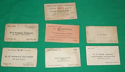 Old Salesman Business Calling Card Ephemera Kansas City Perfume Auto Livery Taxi
