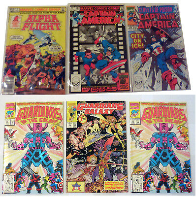 Alpha Flight #1 + Guardians of the Galaxy #1,25(2 copies+Captain America#281&372