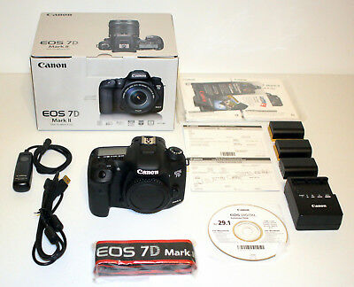 Canon EOS 7D Mark II 20.2 MP DSLR Camera Body w/ Remote Switch RS-80N3 9128B002