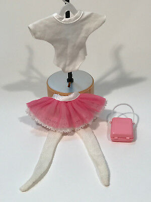 Vintage SINDY Active Doll Clothes Ballerina Kit Top Tights Tutu case 1 shoe