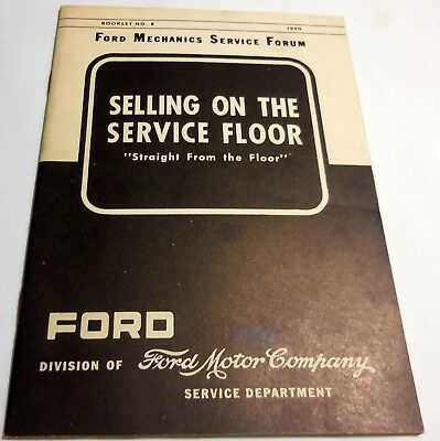 "Original 1950 Ford Salesman's ""Selling On The Service Floor""  brochure catalog"
