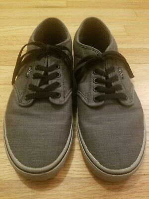 00c0efd7705e Vans Mens Size 9 TB4R Classic Skate Shoe Gray Black Gray Sneakers Off the  Wall