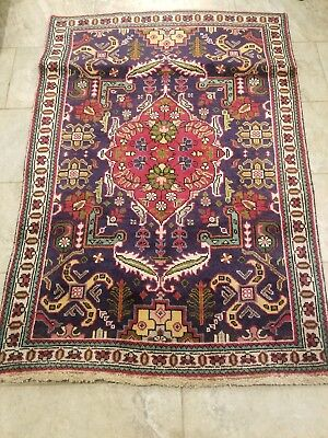 Vibrant Antique Rug, approx 3 by 5
