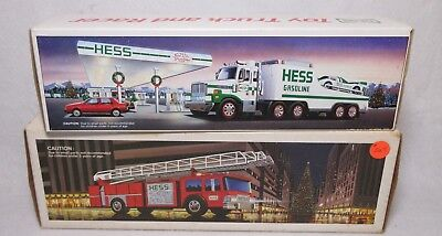 Hess Truck Collection Lot of 2 Trucks 1986 & 1988 Original Boxes. MIB
