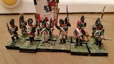 28mm Superbly painted French 12 Figs Metal Napoleonic 9th Demi brigade 1st batt