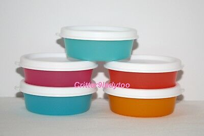NEW Tupperware Lot of 5 Mini Snack Cups or Large Smidgets