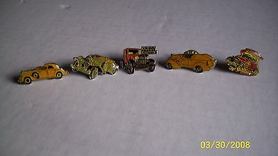 5 Vintage Automotive Cars Hat Lapel Pins
