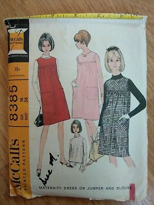 Vintage Sewing Pattern Maternity Dress 1960s
