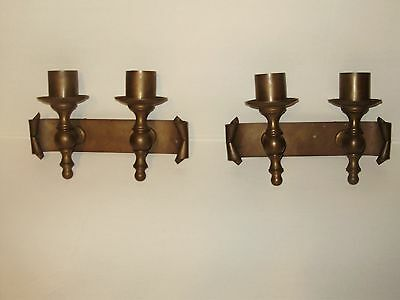 ( A Pair) Vintage Electric Iron   Copper/bronze  Wall Scones Olf Italian Italy