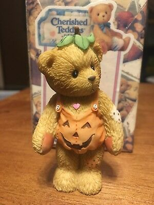 NEW Cherished Teddies - Adelaide - 798835 - Dressed As A Pumpkin