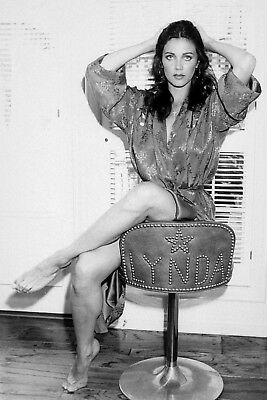 Lynda Carter Posing With Her Hands On Her Head 8x10 Glossy Photo Print