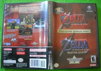 Legend of Zelda Ocarina of Time Master Quest (Nintendo GameCube, 2003) COMPLETE!
