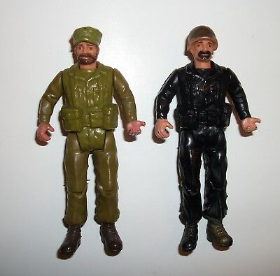 1982 Sgt Rock Lot of 2 Vintage 3 3/4 Action Figure DC Comics