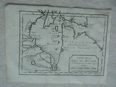 1744 Early Map Of The Hudson Bay Region Of Canada