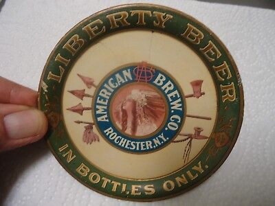 Vintage American Brewing Co. Rochester Ny Liberty Beer Tip Tray