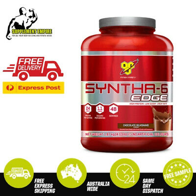 BSN Syntha 6 Edge Ultra Premium Whey Protein Powder Low Carb 45 serves 4 LB