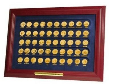 Complete State Quarter Set Gold Plated in Frame  Complete State Quarter Set Coin