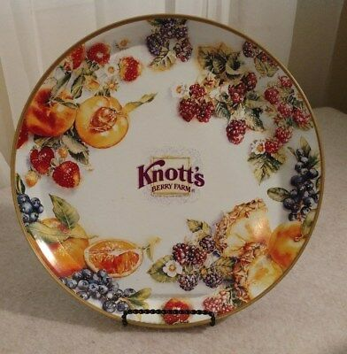 Vintage Knotts Berry Farm Metal Serving Serving Tray 12 Inches Colorful Fruit