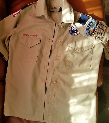 Boy Scouts of America khaki shirt. Perfect condition in Women Extra Small.