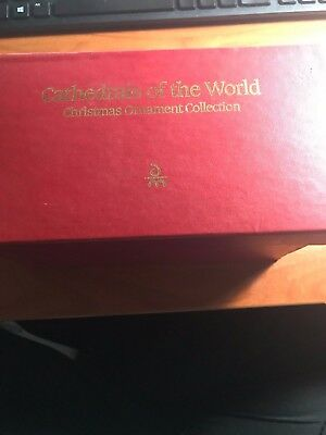 Danbury Mint Cathedrals of the world Set of 9 Ornaments In Box