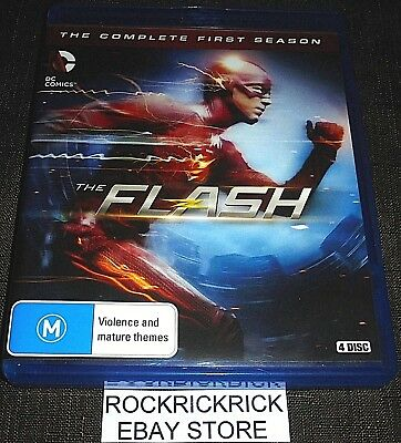 The Flash (Blu-Ray) The Complete First Season (4 Disc Set) Like New Condition