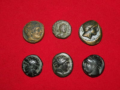 {ITALY/ 6 ancient Rome Republic/300-27BC/Unidentified/Scarce sale offer!}