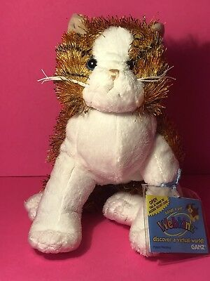 Webkinz Virtual Pet Plush - STRIPED ALLEY CAT - New w/Unused Code Tag