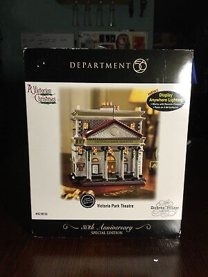 Department 56 Victoria Park Theatre Dickens Village Series 30th Theater 58735