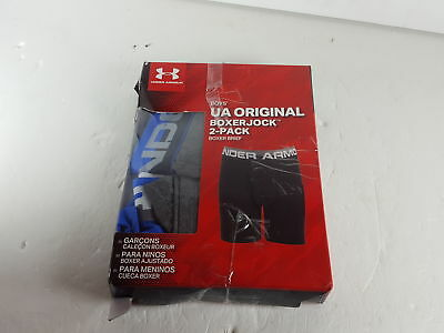 Under Armour Big Boys' 2 Pack Performance Boxer Briefs, Ultra Bl (H101140)