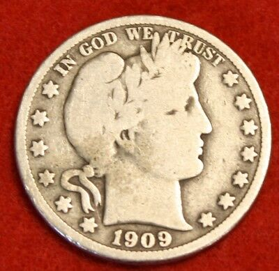 1909-P 50C Barber Half Dollar Vg Beautiful Coin Check Out Store Bh371