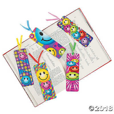 Laminated Smiley Face Bookmark Smile Great School Reward Gift